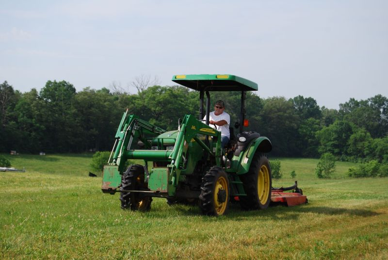 Tractor work on the Organic Crops Unit
